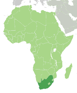 location of south africa in africa