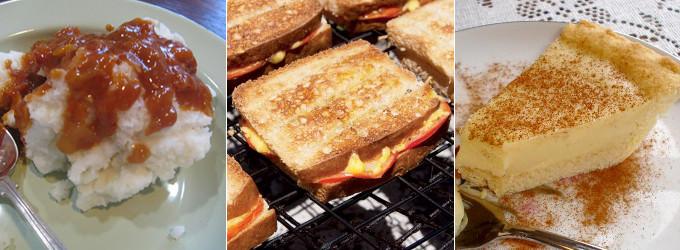 south african braai - pap en sous, braaibroodjies, melktert